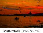 maiden's tower in istanbul... | Shutterstock . vector #1420728743