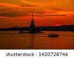 maiden's tower in istanbul... | Shutterstock . vector #1420728746