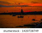 maiden's tower in istanbul... | Shutterstock . vector #1420728749