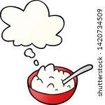 cartoon bowl of porridge with... | Shutterstock .eps vector #1420734509
