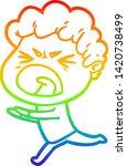 rainbow gradient line drawing... | Shutterstock .eps vector #1420738499