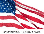 usa national flag flapping in... | Shutterstock . vector #1420757606
