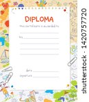 diploma template in the style... | Shutterstock .eps vector #1420757720