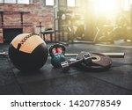 disassembled barbell  medicine... | Shutterstock . vector #1420778549