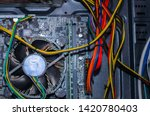 inside of a computer. computer... | Shutterstock . vector #1420780403