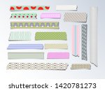 adhesive tape. set of colorful... | Shutterstock .eps vector #1420781273