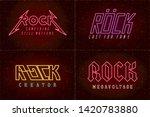 rock glam and thrash heavy... | Shutterstock .eps vector #1420783880