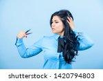 master cosmetologist. staining... | Shutterstock . vector #1420794803