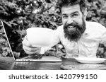 drink coffee work faster.... | Shutterstock . vector #1420799150
