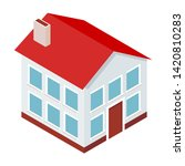 isometric house. private... | Shutterstock .eps vector #1420810283