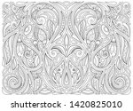 monochrome floral background in ... | Shutterstock . vector #1420825010