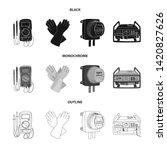 bitmap design of electricity... | Shutterstock . vector #1420827626