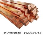 Stack Of Copper Flat Bars ...