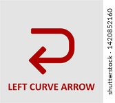 filled left curve arrow icon.... | Shutterstock .eps vector #1420852160