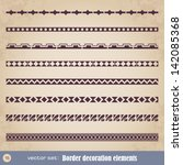 border decoration elements set... | Shutterstock .eps vector #142085368