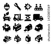 factory icons | Shutterstock .eps vector #142085569