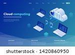cloud computing concept. cloud... | Shutterstock .eps vector #1420860950
