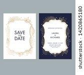 wedding invitation card... | Shutterstock . vector #1420865180