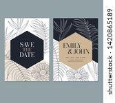 wedding invitation card... | Shutterstock . vector #1420865189