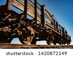 Old And Rusty Train Wagons In A ...