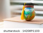 studies at home when covid 19... | Shutterstock . vector #1420891103