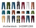 men's clothing. shorts and... | Shutterstock .eps vector #1420891283
