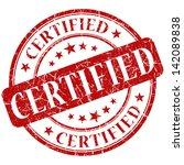certified stamp. certified.... | Shutterstock . vector #142089838