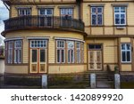 details of the large old wooden ... | Shutterstock . vector #1420899920