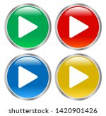 glossy play buttons... | Shutterstock .eps vector #1420901426