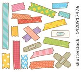 washi tape doodle isolated on... | Shutterstock .eps vector #1420917476