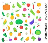 set of icons of fruits and... | Shutterstock .eps vector #1420921520