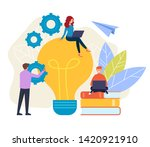 people office workers...   Shutterstock .eps vector #1420921910