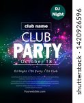 party flyer poster. futuristic... | Shutterstock .eps vector #1420926596