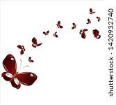 beautiful yellow butterflies ... | Shutterstock .eps vector #1420932740