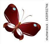 beautiful yellow butterflies ... | Shutterstock .eps vector #1420932746