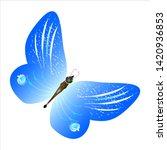 beautiful butterflies  blue... | Shutterstock .eps vector #1420936853