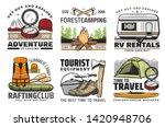 outdoor adventure and travel... | Shutterstock .eps vector #1420948706
