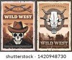 wild west american western... | Shutterstock .eps vector #1420948730