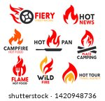 fire flame icons  burning hot... | Shutterstock .eps vector #1420948736
