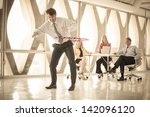group of mature adults taking a ...   Shutterstock . vector #142096120