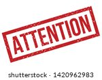 attention rubber stamp. red... | Shutterstock .eps vector #1420962983