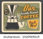 coffeeshop or coffee brewing... | Shutterstock .eps vector #1420969619