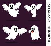 happy halloween  ghost  scary...   Shutterstock .eps vector #1420995560