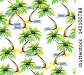 palm tree on white background.... | Shutterstock . vector #142100788