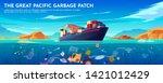 pacific ocean plastic garbage... | Shutterstock .eps vector #1421012429