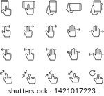 set of gesture icons  such as... | Shutterstock .eps vector #1421017223