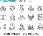 set of people line icons  such... | Shutterstock .eps vector #1421017253