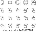 set of gesture icons  such as... | Shutterstock .eps vector #1421017289
