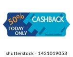 cashback shopping banner.... | Shutterstock .eps vector #1421019053