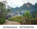 Village On Hill Look At View O...